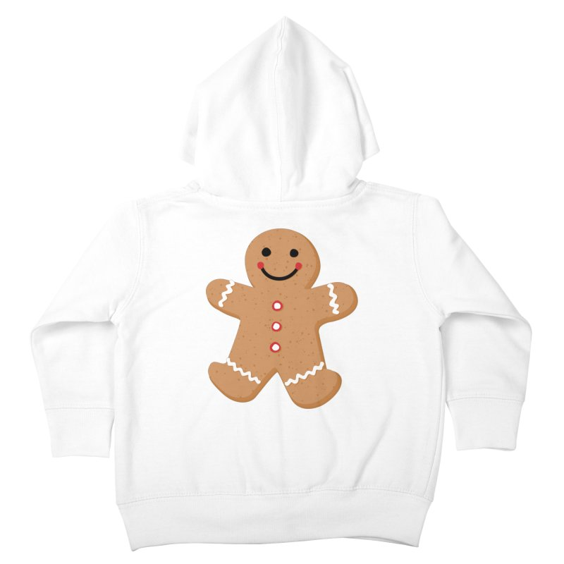 Gingerbread Person Kids Toddler Zip-Up Hoody by Dean Cole Design
