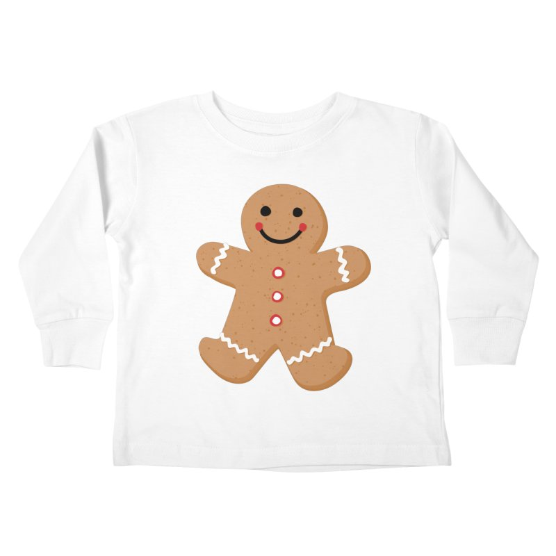 Gingerbread Person Kids Toddler Longsleeve T-Shirt by Dean Cole Design