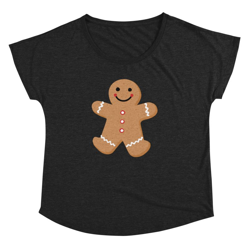 Gingerbread Person Women's Dolman Scoop Neck by Dean Cole Design