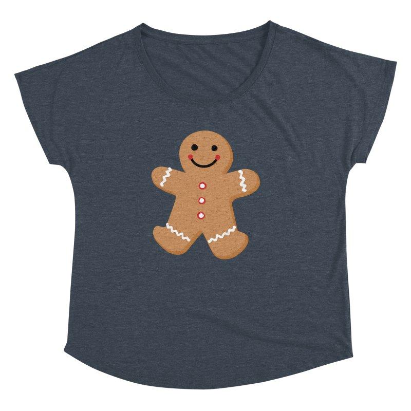 Gingerbread Person Women's Dolman Scoop Neck by Dean Cole Design