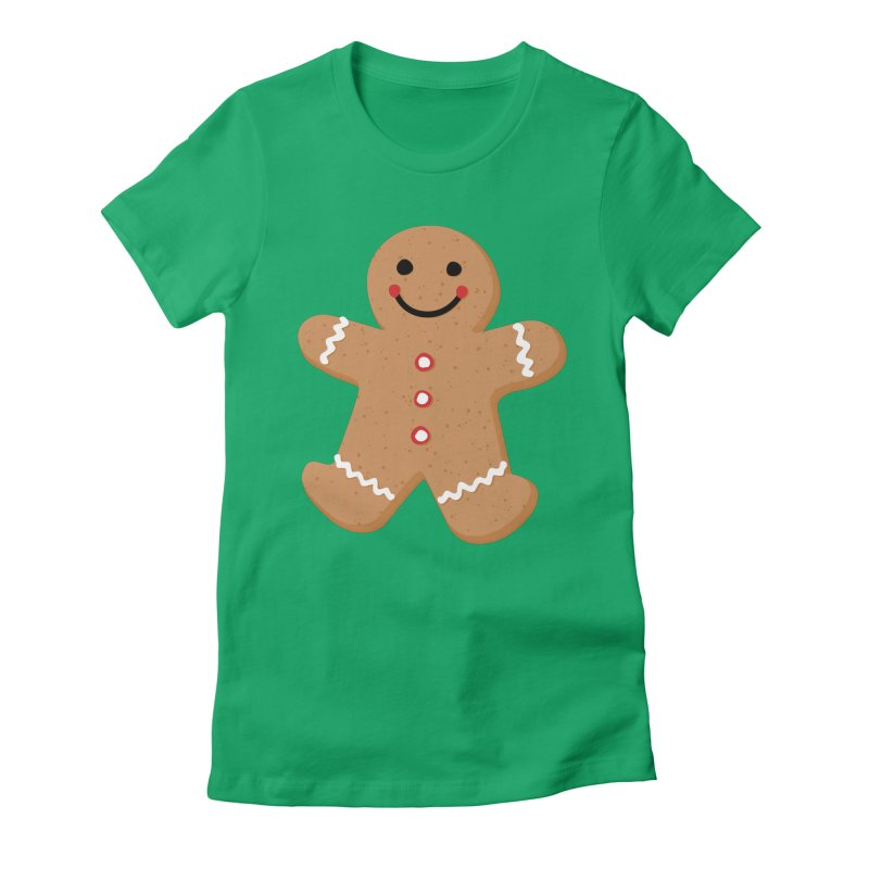 Gingerbread Person Women's Fitted T-Shirt by Dean Cole Design