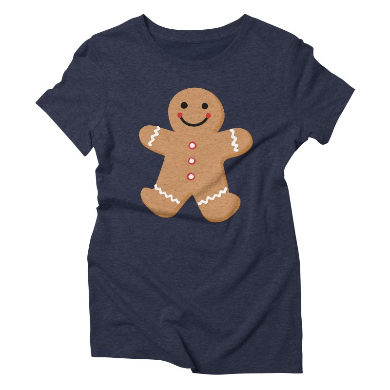 Gingerbread Person Women's Triblend T-Shirt by Dean Cole Design