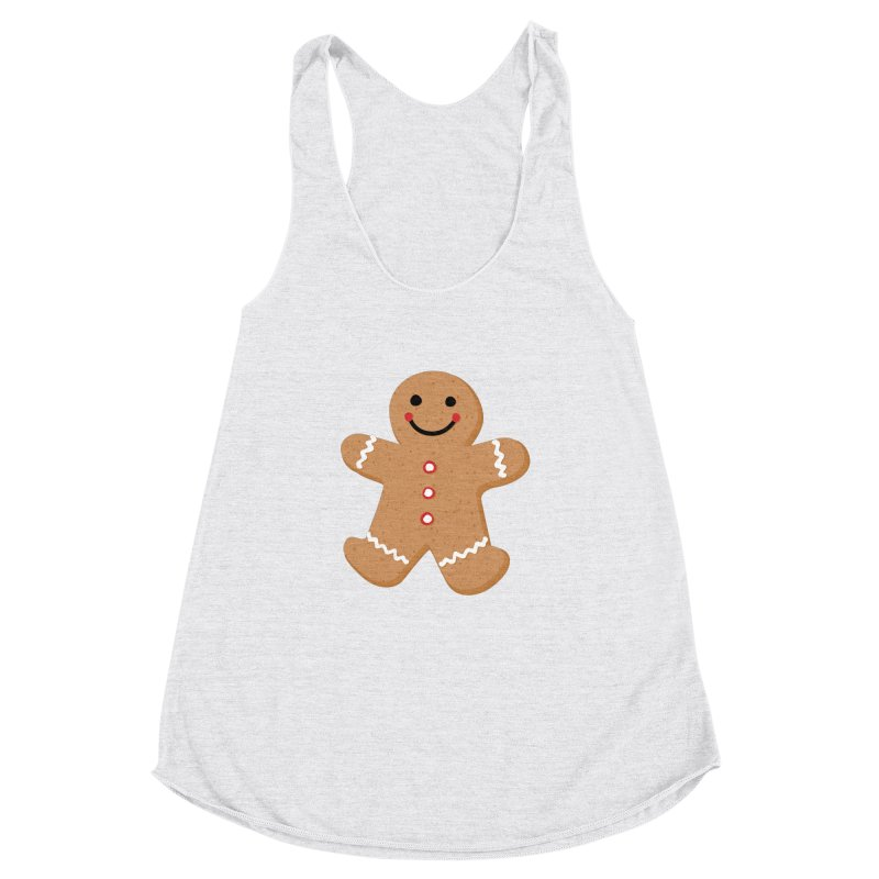 Gingerbread Person Women's Racerback Triblend Tank by Dean Cole Design