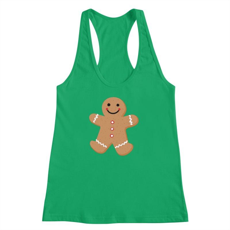 Gingerbread Person Women's Racerback Tank by Dean Cole Design