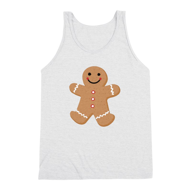 Gingerbread Person Men's Triblend Tank by Dean Cole Design