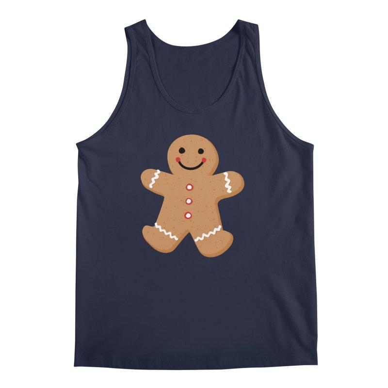 Gingerbread Person Men's Regular Tank by Dean Cole Design