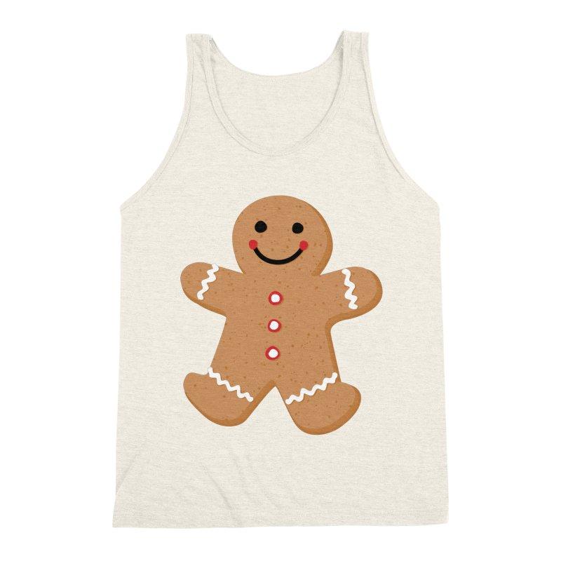Gingerbread Person Men's Triblend Tank by Dean Cole Design
