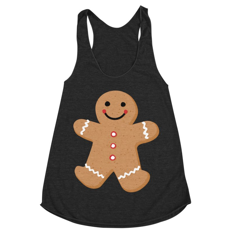 Gingerbread Person Women's Racerback Triblend Tank by Dean Cole Design