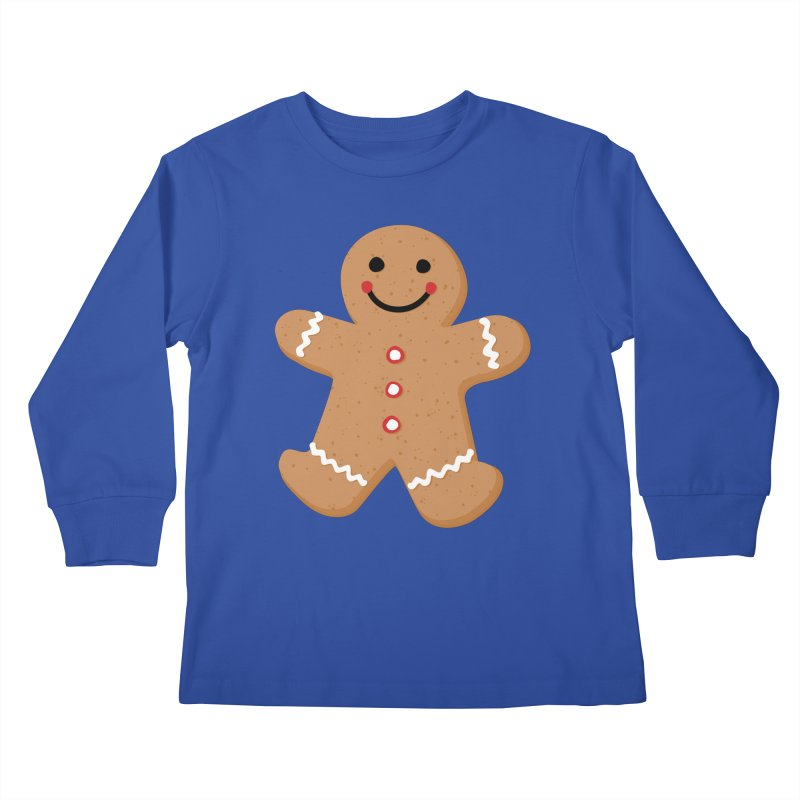 Gingerbread Person Kids Longsleeve T-Shirt by Dean Cole Design