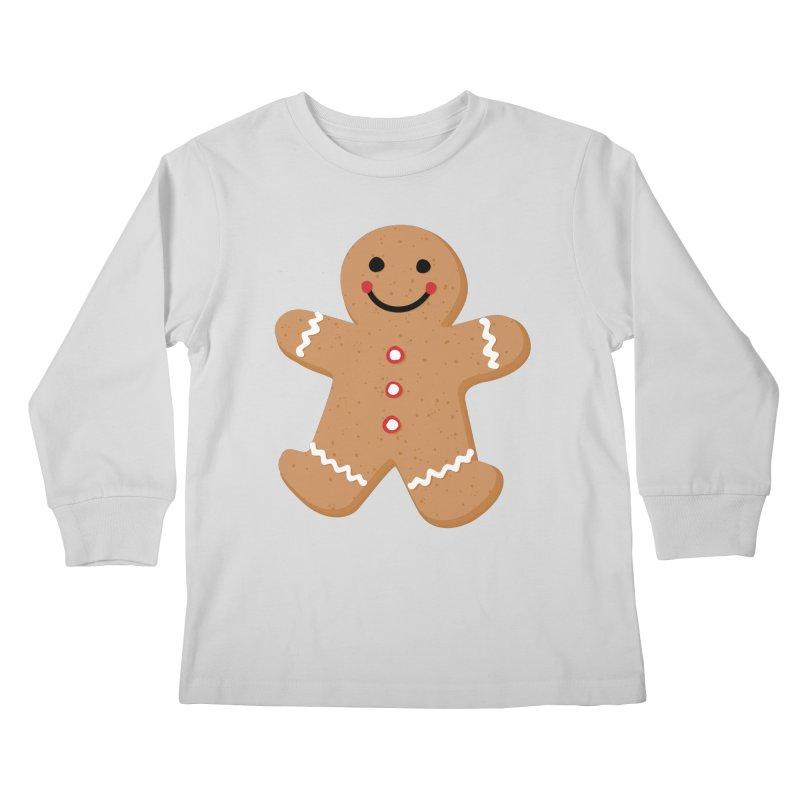 Gingerbread Person Kids Longsleeve T-Shirt by Dean Cole Design