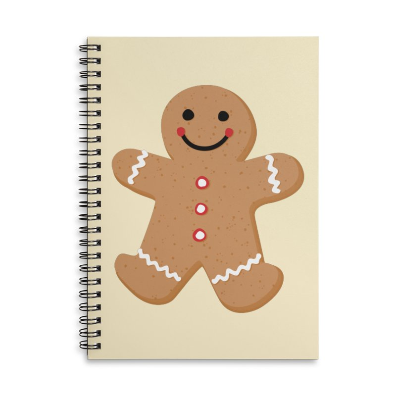Gingerbread Person Accessories Lined Spiral Notebook by Dean Cole Design
