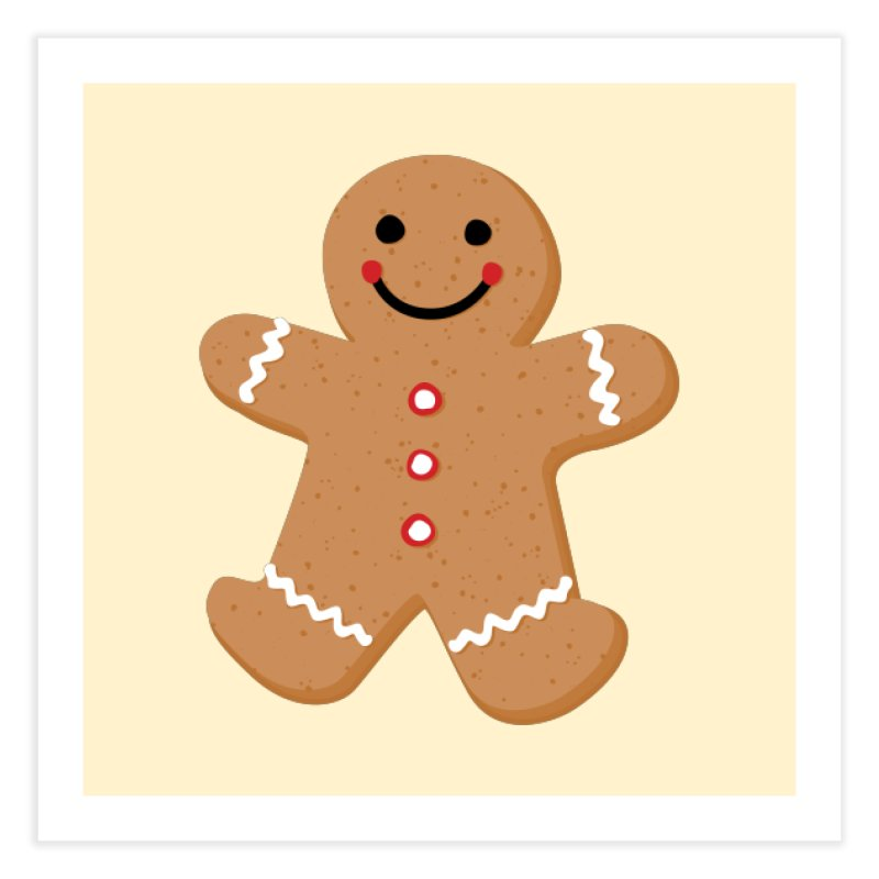 Gingerbread Person Home Fine Art Print by Dean Cole Design
