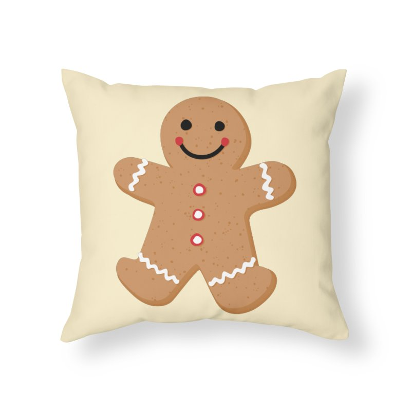 Gingerbread Person Home Throw Pillow by Dean Cole Design