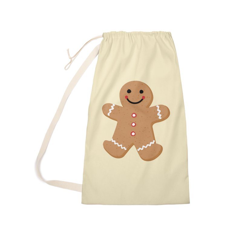 Gingerbread Person Accessories Laundry Bag Bag by Dean Cole Design