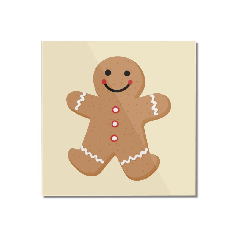 Gingerbread Person Home Mounted Acrylic Print by Dean Cole Design