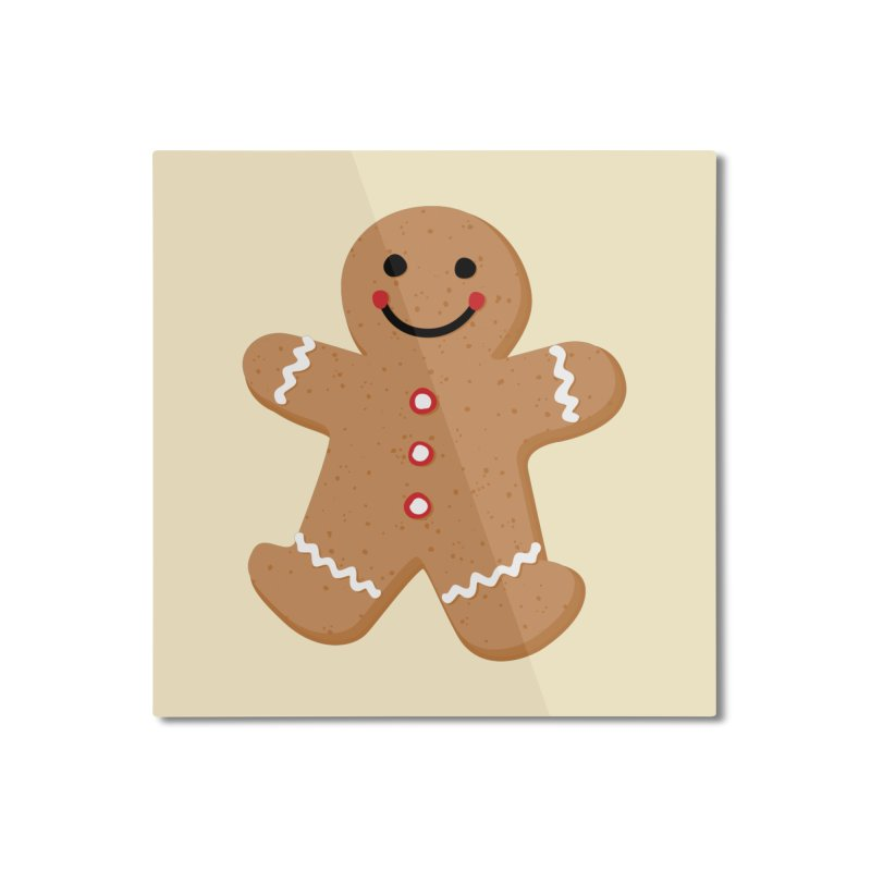 Gingerbread Person Home Mounted Aluminum Print by Dean Cole Design