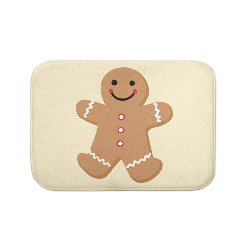 Gingerbread Person Home Bath Mat by Dean Cole Design