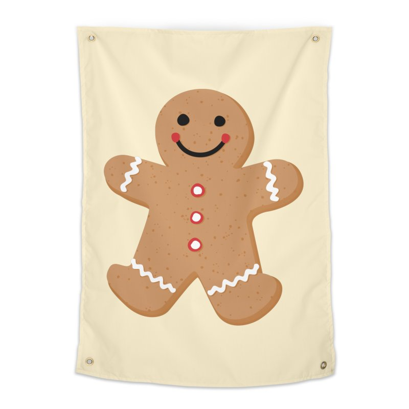 Gingerbread Person Home Tapestry by Dean Cole Design