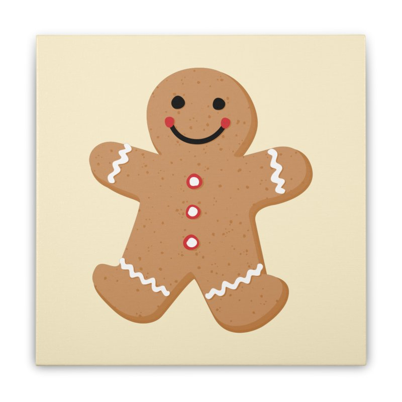 Gingerbread Person Home Stretched Canvas by Dean Cole Design