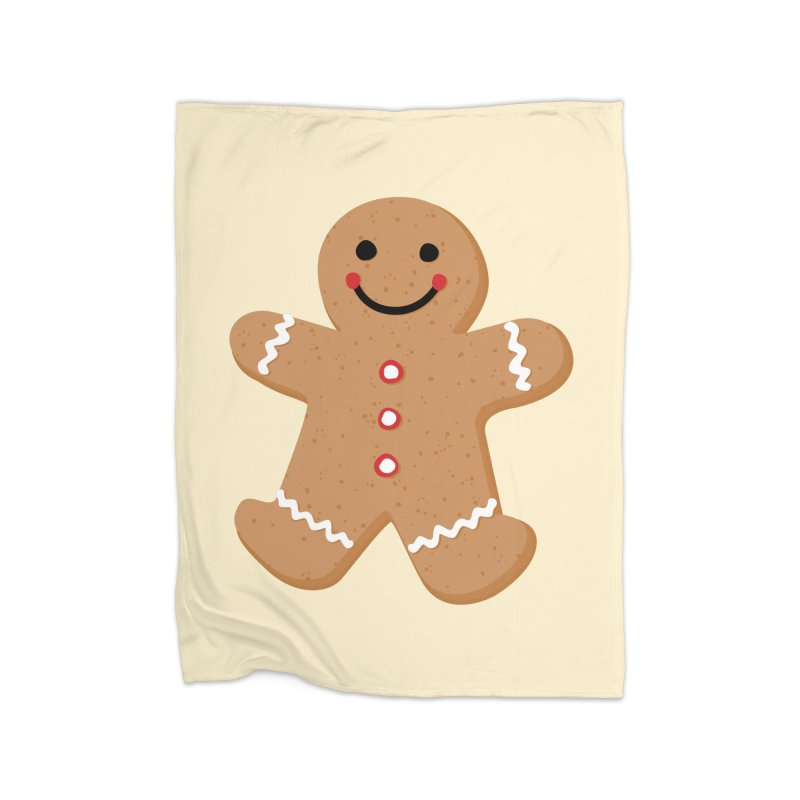 Gingerbread Person Home Fleece Blanket Blanket by Dean Cole Design