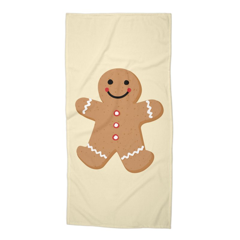 Gingerbread Person Accessories Beach Towel by Dean Cole Design