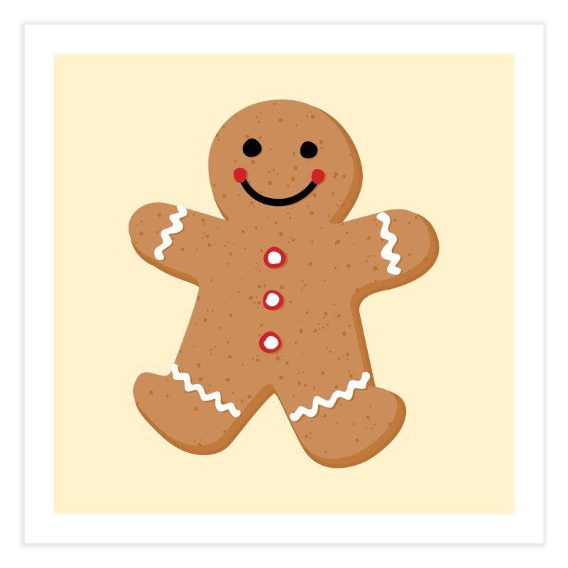 Gingerbread Person Home Fine Art Print by Dean Cole Design