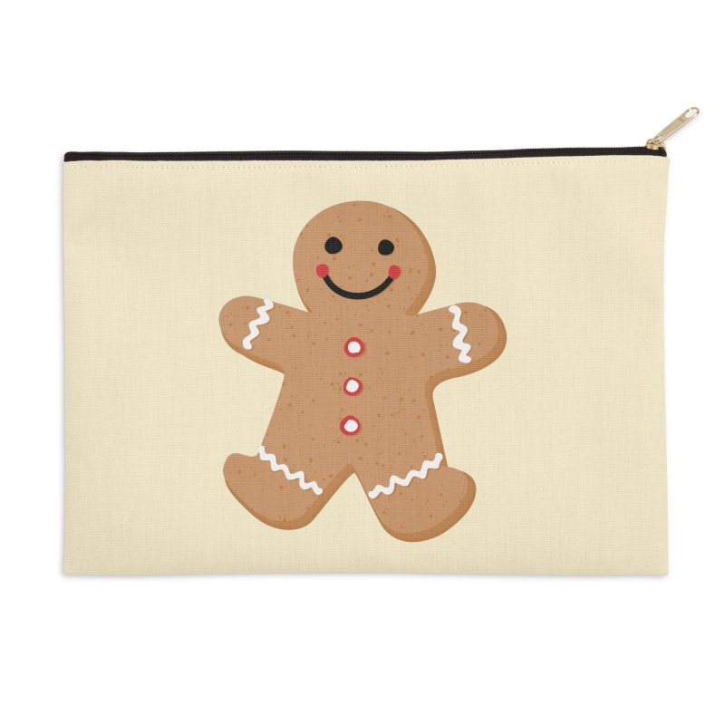 Gingerbread Person Accessories Zip Pouch by Dean Cole Design
