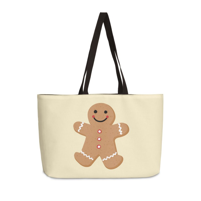Gingerbread Person Accessories Weekender Bag Bag by Dean Cole Design