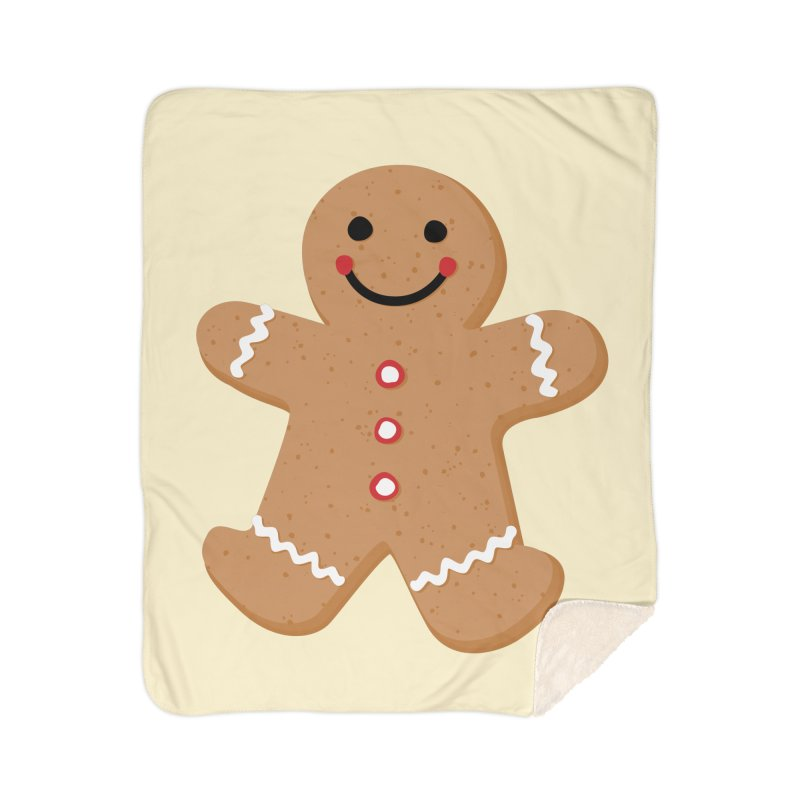 Gingerbread Person Home Sherpa Blanket Blanket by Dean Cole Design