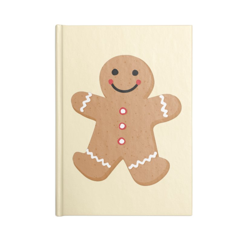 Gingerbread Person Accessories Lined Journal Notebook by Dean Cole Design