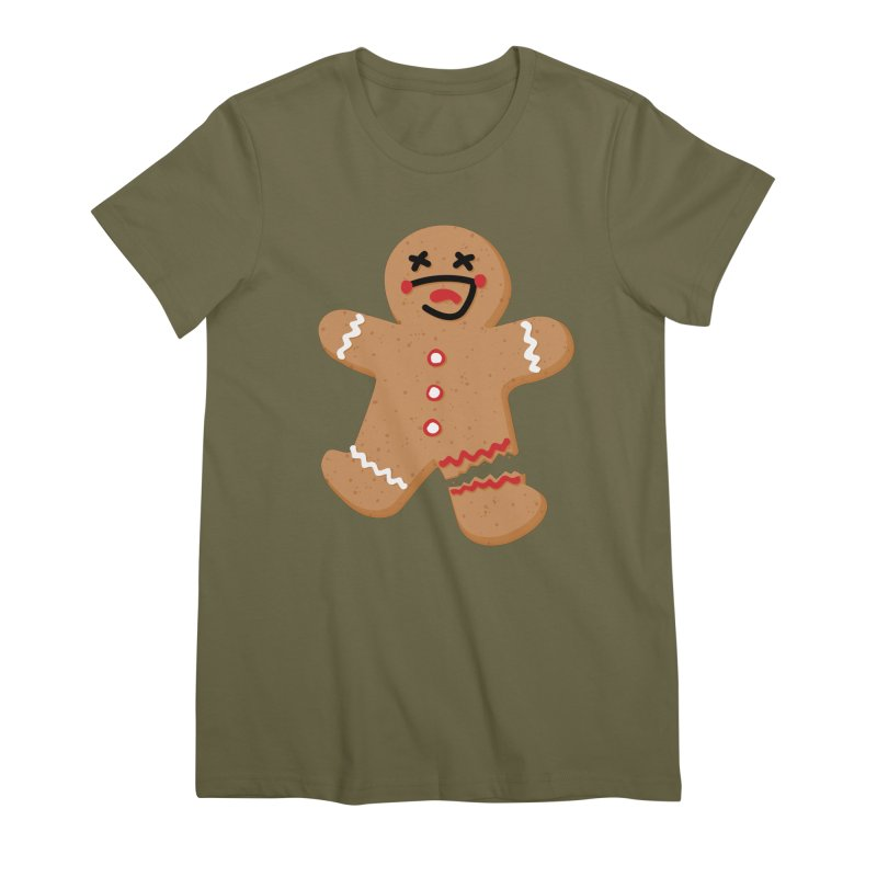 Gingerbread - Oh Snap! Women's Premium T-Shirt by Dean Cole Design