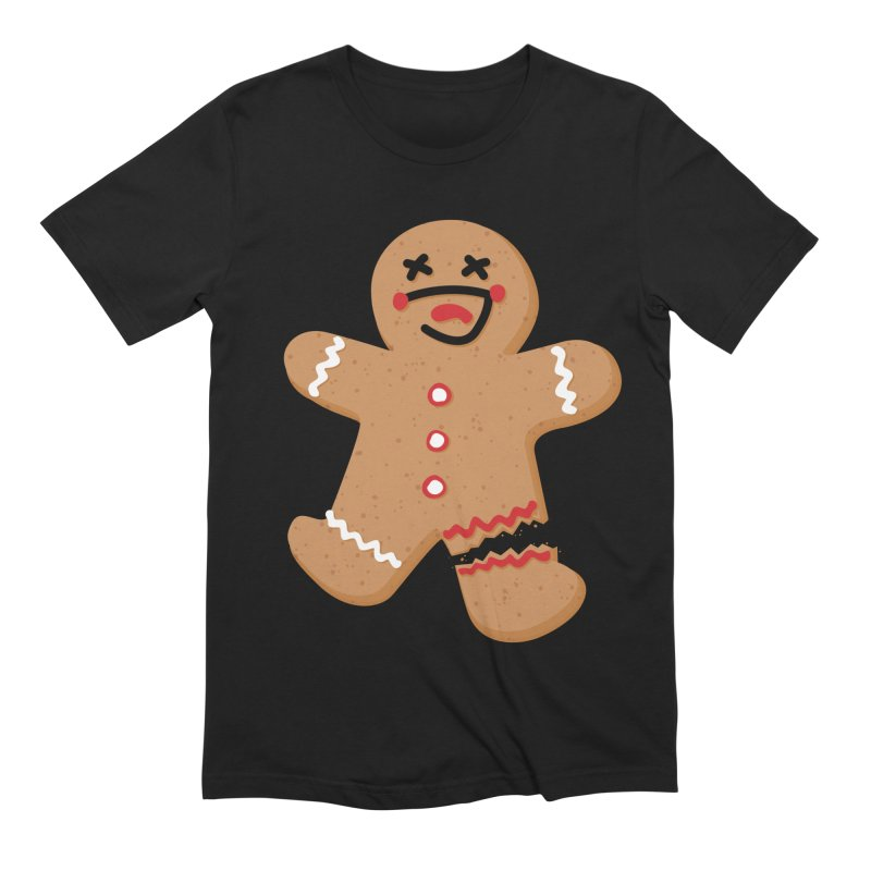 Gingerbread - Oh Snap! Men's Extra Soft T-Shirt by Dean Cole Design