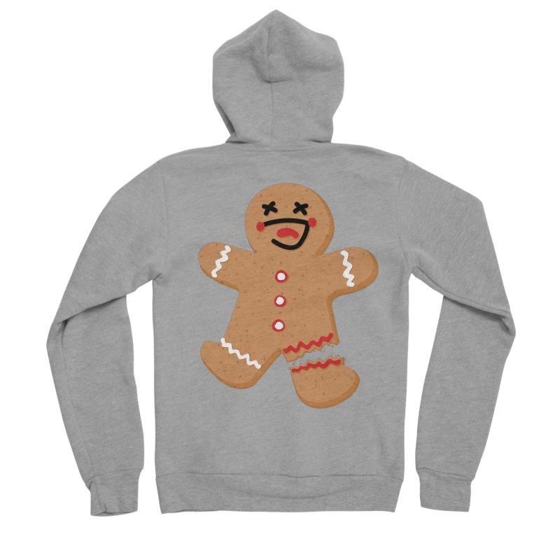 Gingerbread - Oh Snap! Men's Sponge Fleece Zip-Up Hoody by Dean Cole Design