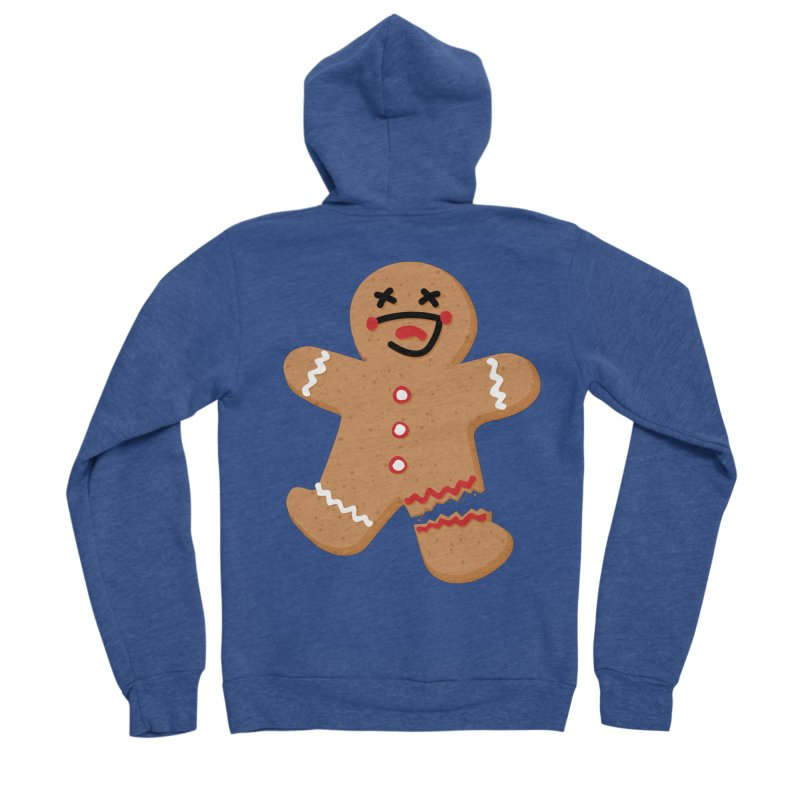 Gingerbread - Oh Snap! Women's Zip-Up Hoody by Dean Cole Design