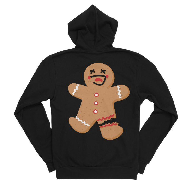 Gingerbread - Oh Snap! Men's Sponge Fleece Zip-Up Hoody by Dean Cole Design