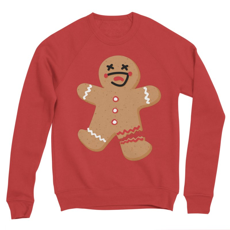 Gingerbread - Oh Snap! Men's Sponge Fleece Sweatshirt by Dean Cole Design