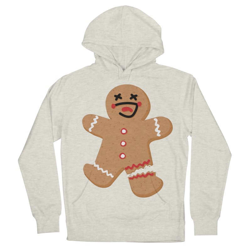 Gingerbread - Oh Snap! Men's French Terry Pullover Hoody by Dean Cole Design