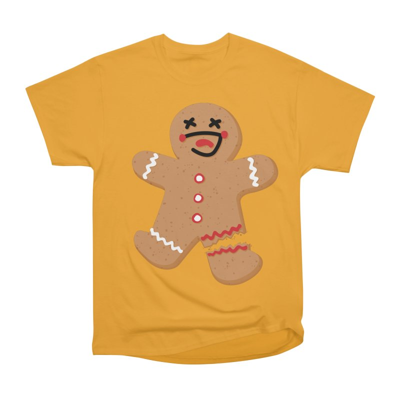 Gingerbread - Oh Snap! Women's Heavyweight Unisex T-Shirt by Dean Cole Design