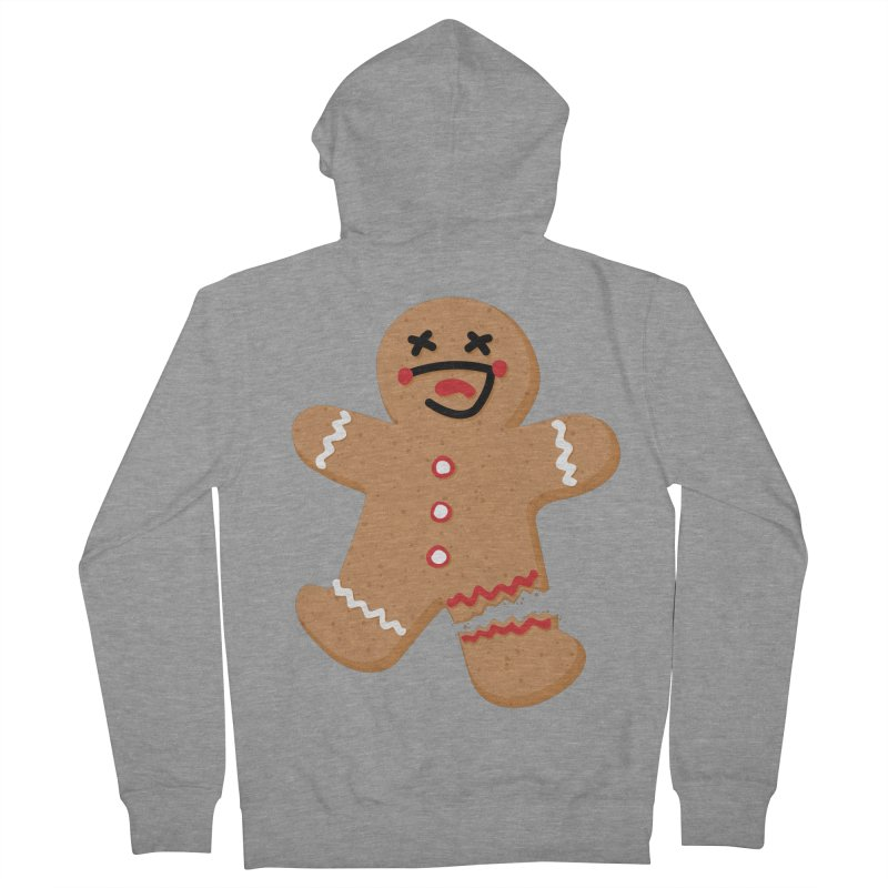 Gingerbread - Oh Snap! Women's French Terry Zip-Up Hoody by Dean Cole Design