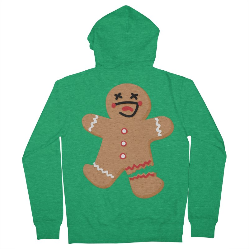 Gingerbread - Oh Snap! Men's French Terry Zip-Up Hoody by Dean Cole Design
