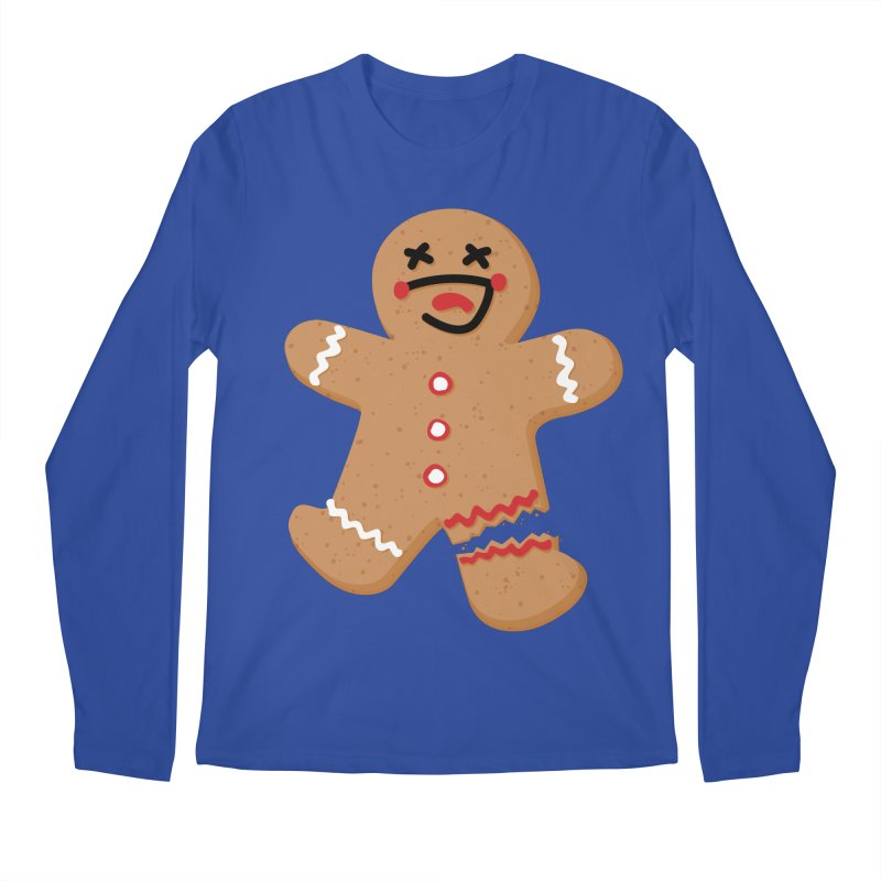 Gingerbread - Oh Snap! Men's Regular Longsleeve T-Shirt by Dean Cole Design