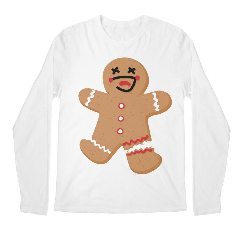 Gingerbread - Oh Snap! Men's Regular Longsleeve T-Shirt by Dean Cole Design