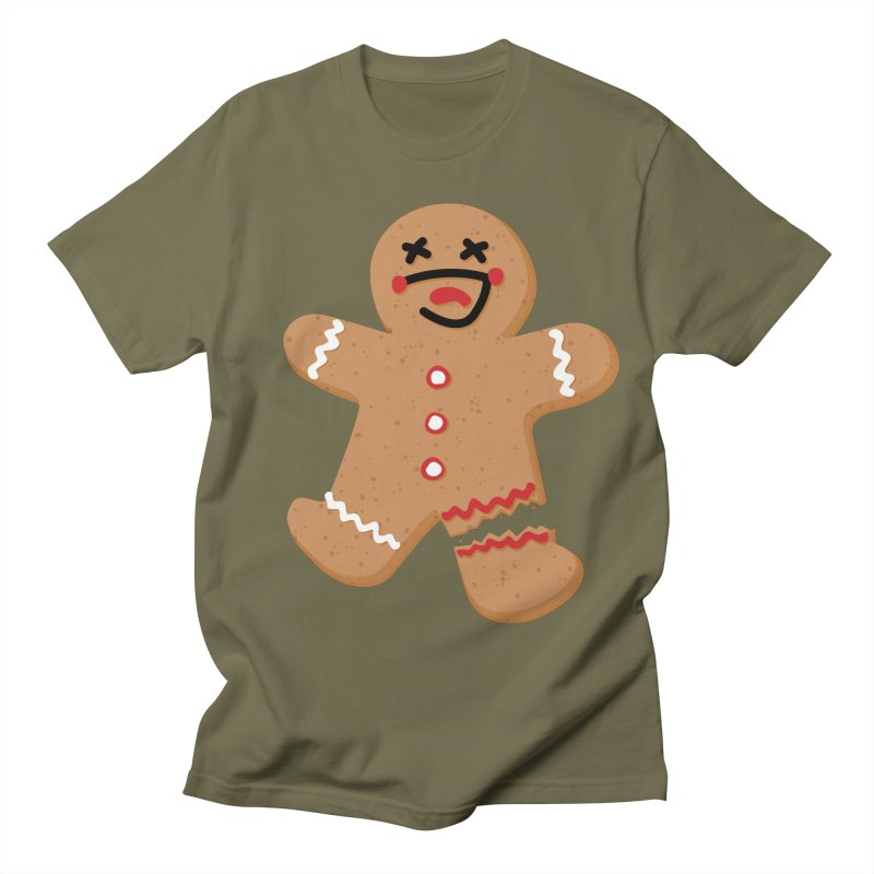 Gingerbread - Oh Snap! Men's Regular T-Shirt by Dean Cole Design