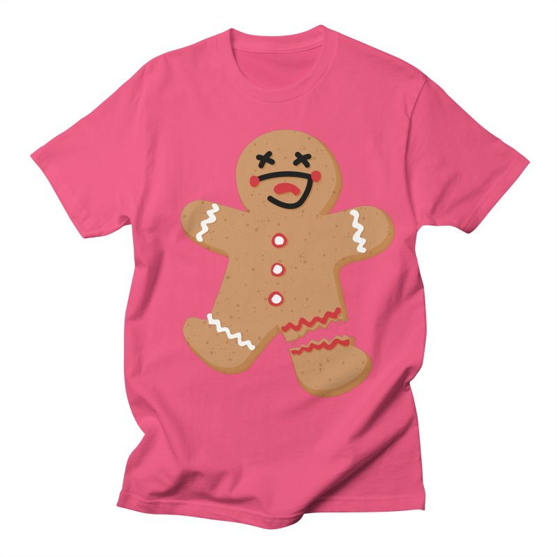 Gingerbread - Oh Snap! Men's Regular T-Shirt by Dean Cole Design