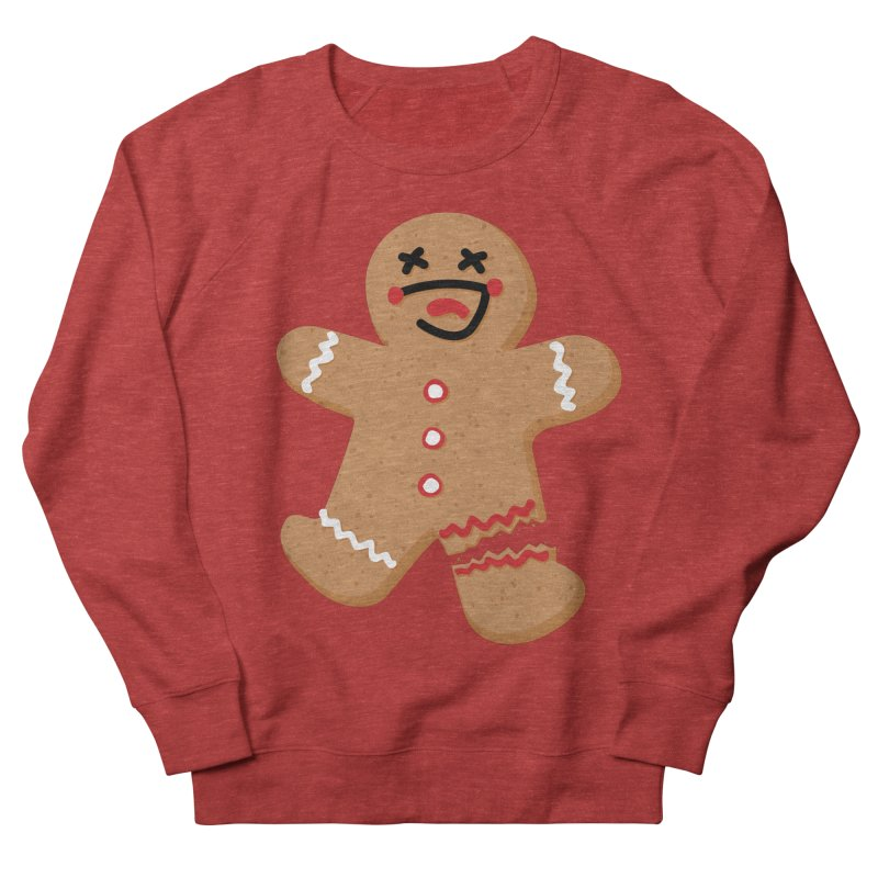 Gingerbread - Oh Snap! Men's French Terry Sweatshirt by Dean Cole Design