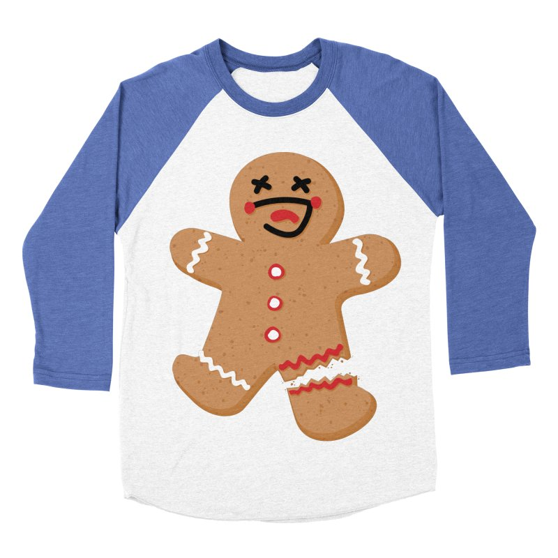 Gingerbread - Oh Snap! Women's Baseball Triblend Longsleeve T-Shirt by Dean Cole Design