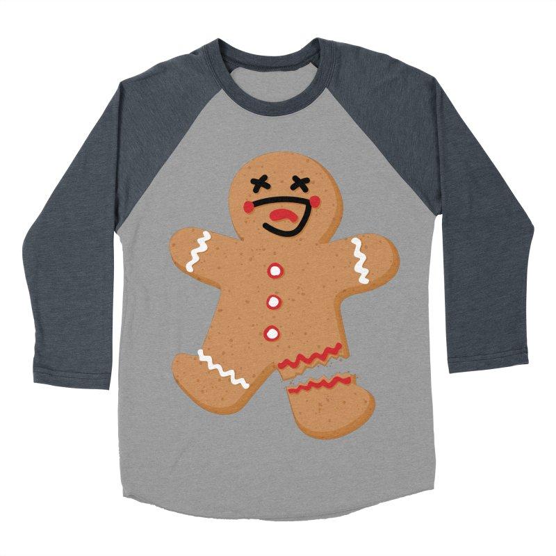 Gingerbread - Oh Snap! Women's Baseball Triblend Longsleeve T-Shirt by Dean Cole Design