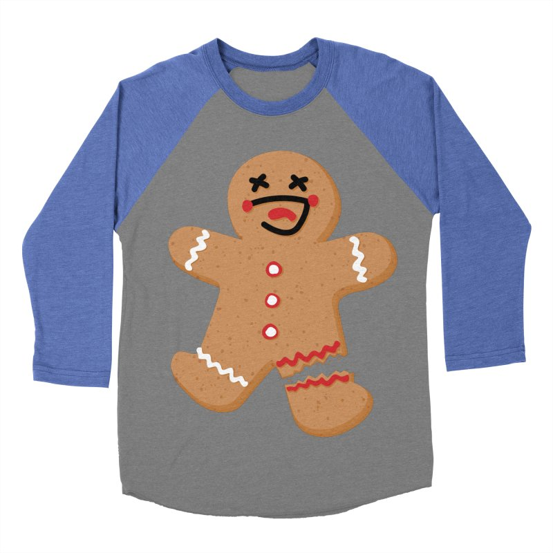 Gingerbread - Oh Snap! Men's Baseball Triblend Longsleeve T-Shirt by Dean Cole Design