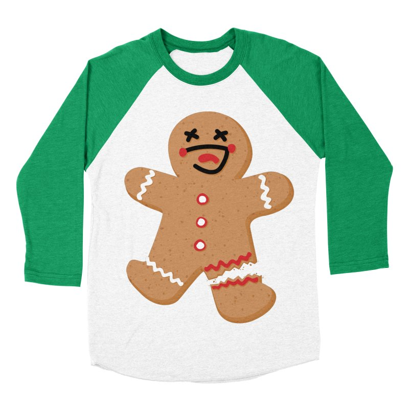 Gingerbread - Oh Snap! Men's Baseball Triblend Longsleeve T-Shirt by Dean Cole Design