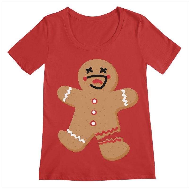 Gingerbread - Oh Snap! Women's Regular Scoop Neck by Dean Cole Design